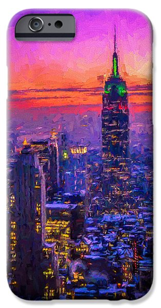 Empire State Mixed Media iPhone Cases - Empire State Building iPhone Case by Michael Petrizzo