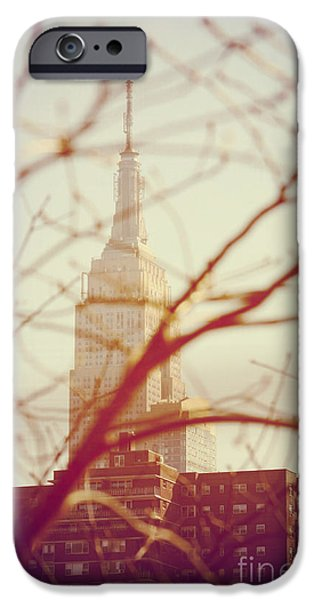 Nyc Pyrography iPhone Cases - Empire State Building NYC iPhone Case by Fernando Tobar