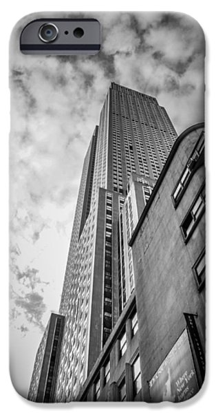 Empire State Pyrography iPhone Cases - Empire State Building iPhone Case by Timothy Denehy