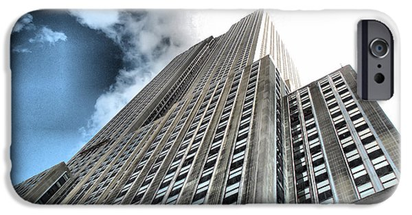 Empire State iPhone Cases - Empire State Building - Vertigo in Reverse iPhone Case by Luther   Fine Art