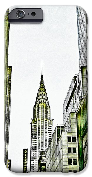 Empire State Mixed Media iPhone Cases - Empire State Manhattan iPhone Case by Celestial Images