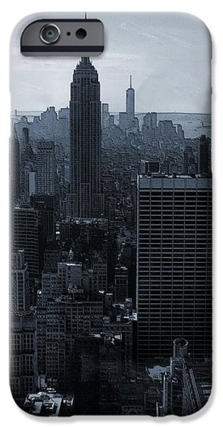 Buildings Mixed Media iPhone Cases - Empire State Of Mind iPhone Case by Dan Sproul
