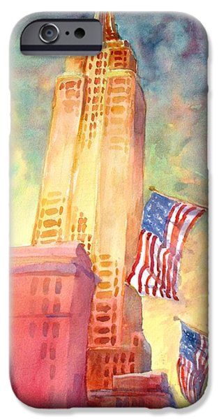 New York City iPhone Cases - Empire State iPhone Case by Virgil Carter