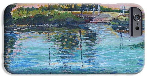 Alga Paintings iPhone Cases - Empire Tract Ferry iPhone Case by Vanessa Hadady BFA MA