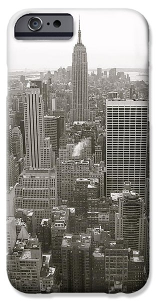 Empire State iPhone Cases - Empire View iPhone Case by Daniel  Taylor