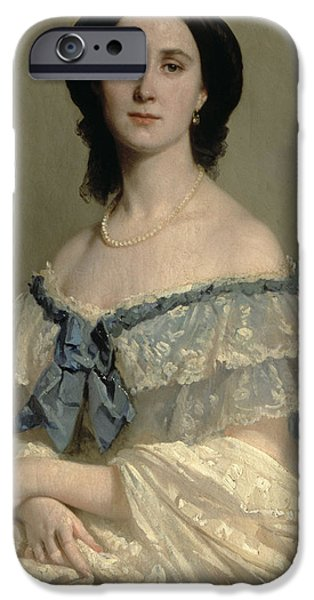 Charlotte Paintings iPhone Cases - Empress Charlotte of Mexico iPhone Case by Isidore Pils