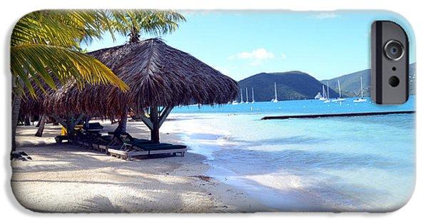Sailboats iPhone Cases - Empty Beach iPhone Case by Nina-Rosa Duddy