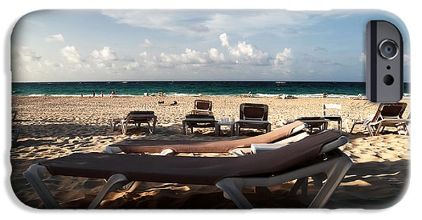 Empty Chairs iPhone Cases - Empty Chair iPhone Case by John Rizzuto