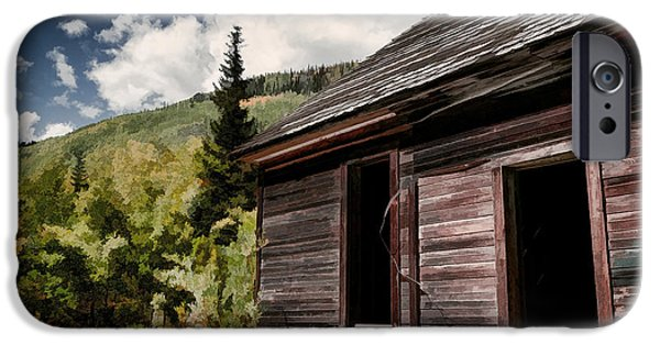 Cabin Window iPhone Cases - Empty Dreams iPhone Case by Janice Rae Pariza
