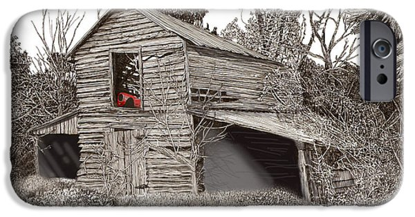Best Sellers -  - Pen And Ink Of Barn iPhone Cases - Empty old barn iPhone Case by Jack Pumphrey