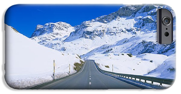 Asphalt iPhone Cases - Empty Road Passing Through A Polar iPhone Case by Panoramic Images