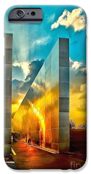 Terrorism iPhone Cases - Empty Skies Sunset iPhone Case by Nick Zelinsky