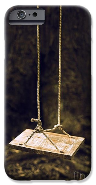 Missing Child iPhone Cases - Empty Swing iPhone Case by Carlos Caetano