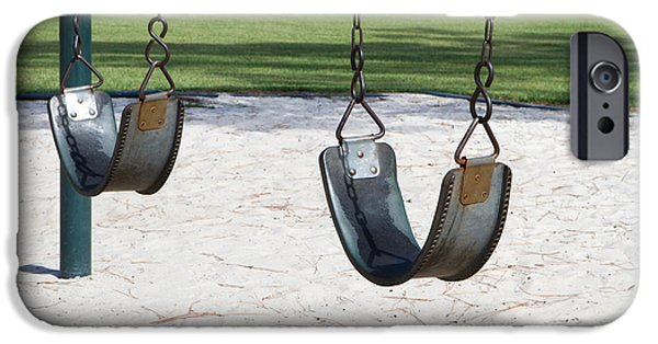 Missing Child iPhone Cases - Empty Swings iPhone Case by Steven Frame