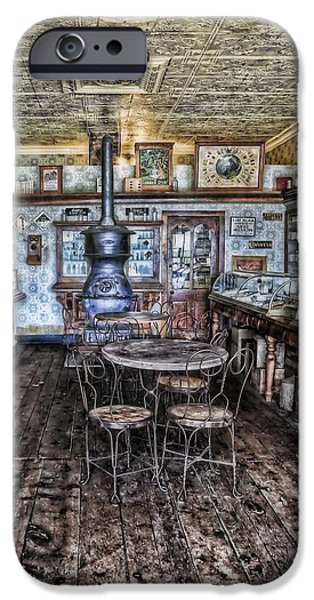 1890Õs iPhone Cases - Empty Tables iPhone Case by Ken Smith