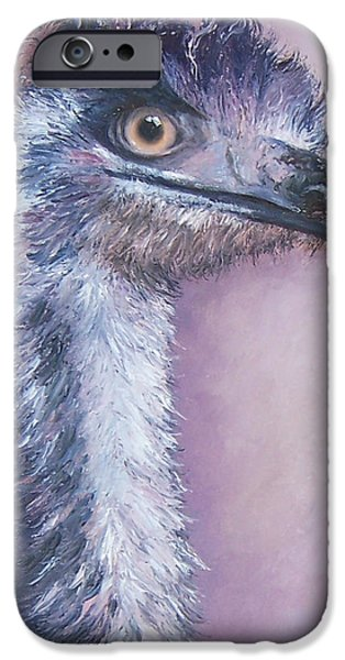 Emu iPhone Cases - Emu by Jan Matson iPhone Case by Jan Matson
