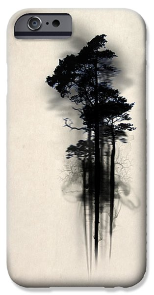 Forest iPhone Cases - Enchanted forest Case iPhone Case by Nicklas Gustafsson
