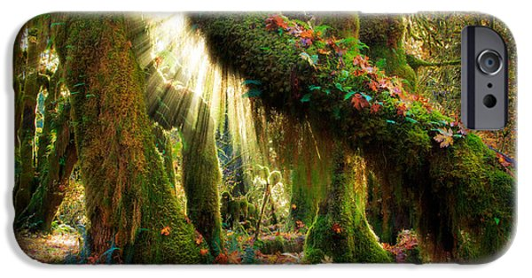 Peninsula iPhone Cases - Enchanted Forest iPhone Case by Inge Johnsson