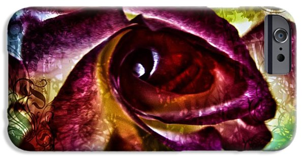 Close Up Floral iPhone Cases - Enchanted  iPhone Case by Marianna Mills