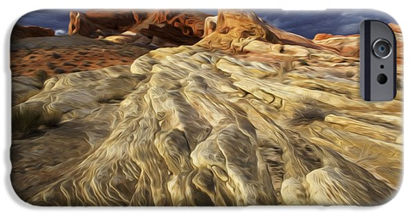 Red Rock iPhone Cases - Enchanted Spaces Valley Of Fire iPhone Case by Bob Christopher
