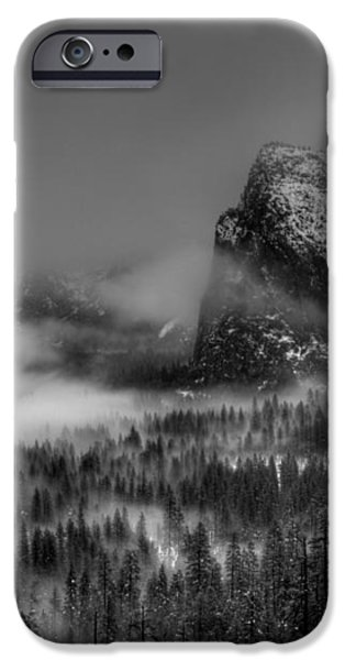 Enchanted Valley in Black and White iPhone Case by Bill Gallagher
