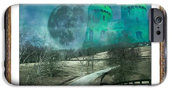 The Houses Mixed Media iPhone Cases - Enchanting Evening with Oz iPhone Case by Betsy A  Cutler