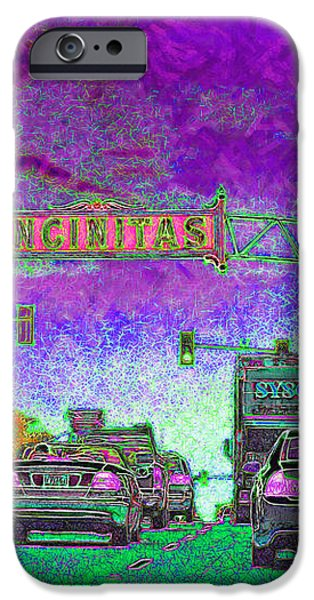Encinitas California 5D24221m68 iPhone Case by Wingsdomain Art and Photography