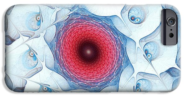Abstract Forms Mixed Media iPhone Cases - Encircle iPhone Case by Anastasiya Malakhova