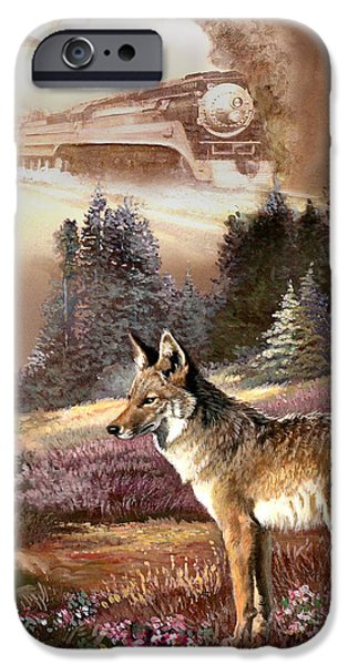 Wildlife Imagery iPhone Cases - Encounter with the iron hors  iPhone Case by Gina Femrite