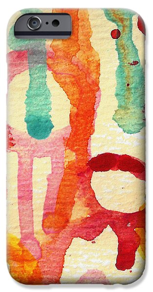 Abstract Forms Mixed Media iPhone Cases - Encounters 5 iPhone Case by Amy Vangsgard