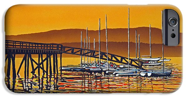 Rockport Ma iPhone Cases - Encounters with Color iPhone Case by David Linton
