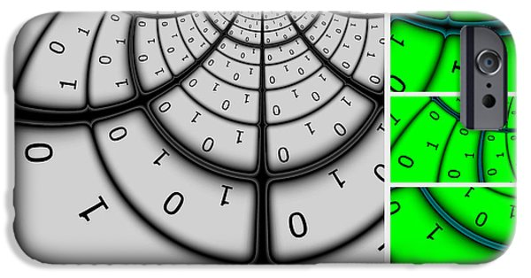 Cyberspace iPhone Cases - Encryption 3 iPhone Case by Aurelio Zucco