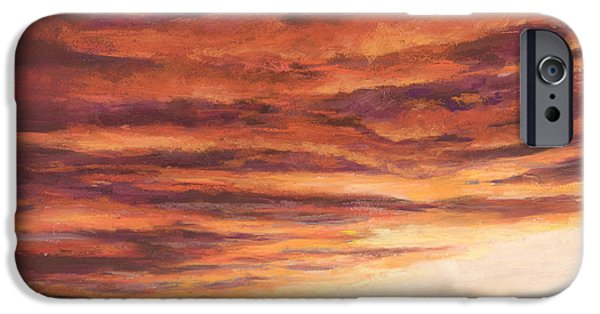 Sunset Pastels iPhone Cases - End of a Day iPhone Case by Billie Colson