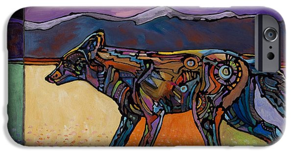 Coyote Art iPhone Cases - End of a Long Day iPhone Case by Bob Coonts