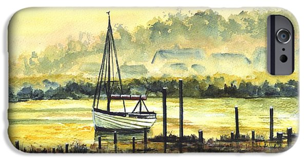 Sailing iPhone Cases - Days End iPhone Case by Carol Wisniewski