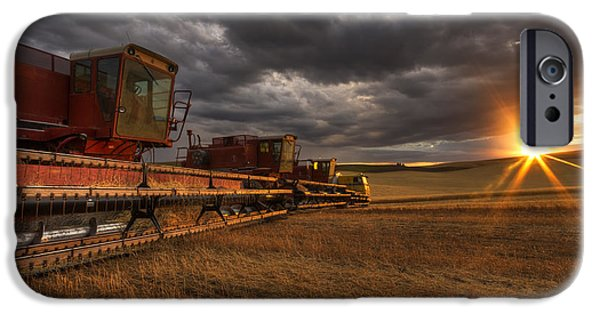 Rural iPhone Cases - End of Day iPhone Case by Mark Kiver