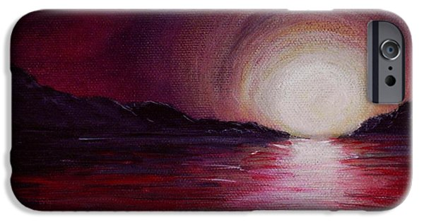Sunset Paintings iPhone Cases - End of the Day iPhone Case by Anastasiya Malakhova