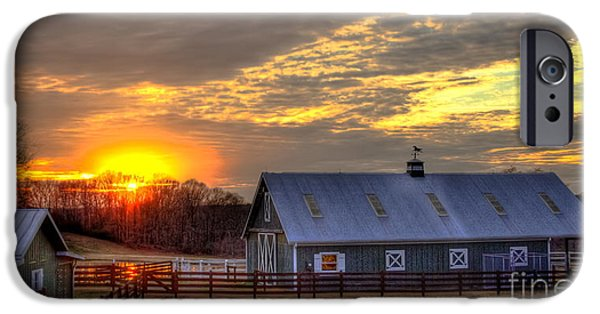 Old Barns iPhone Cases - End Of The Day iPhone Case by Reid Callaway