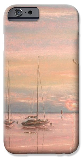 Beach Landscape Pastels iPhone Cases - End Of The Day iPhone Case by The Beach  Dreamer