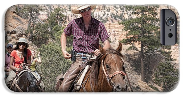 Horse iPhone Cases - At the End of the Trail iPhone Case by Brenda Kean