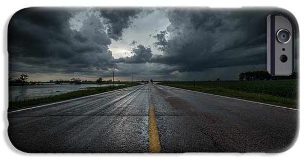 Storm iPhone Cases - End of the Road iPhone Case by Aaron J Groen