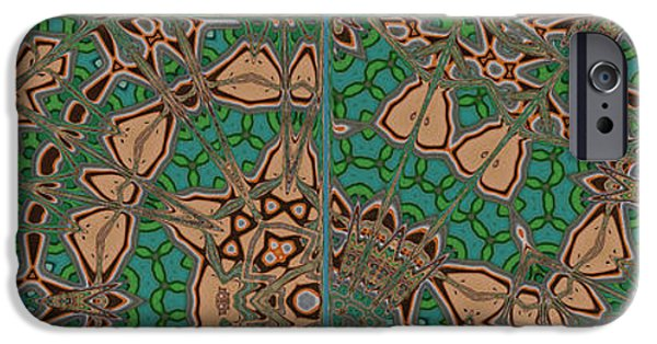 Pattern Books iPhone Cases - End Papers From An Old Book iPhone Case by Mary Machare