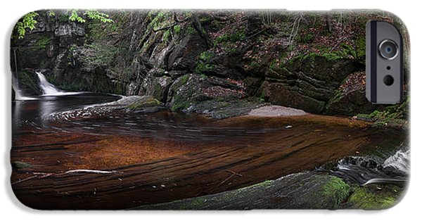 Spring Landscape iPhone Cases - Enders State Forest Panorama iPhone Case by Bill  Wakeley