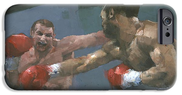 Boxer Paintings iPhone Cases - Endgame iPhone Case by Steve Mitchell