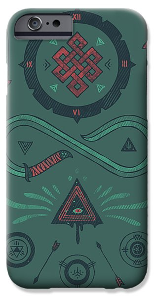 Symbology iPhone Cases - Endless iPhone Case by Hector Mansilla