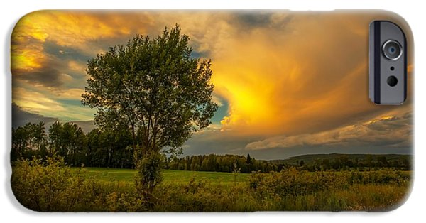 Landscape In Norway iPhone Cases - Endless Pleasures iPhone Case by Rose-Maries Pictures
