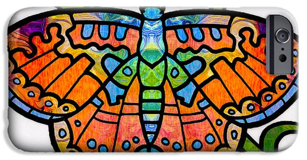 Recently Sold -  - Abstract Digital Mixed Media iPhone Cases - Endless Possibilities Abstract Butterfly Art by Omaste Witkowski iPhone Case by Omaste Witkowski