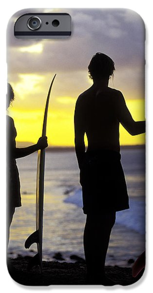 Surf Silhouette iPhone Cases - Endless Summer iPhone Case by Sean Davey