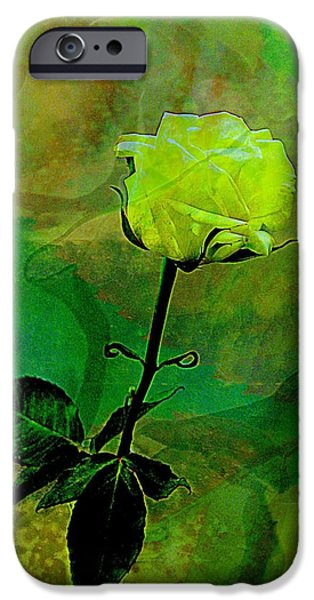 Enduring Yellow Rose iPhone Case by Shirley Sirois