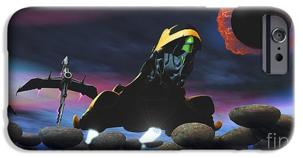 Stellar iPhone Cases - Enemy Spacecraft iPhone Case by Corey Ford
